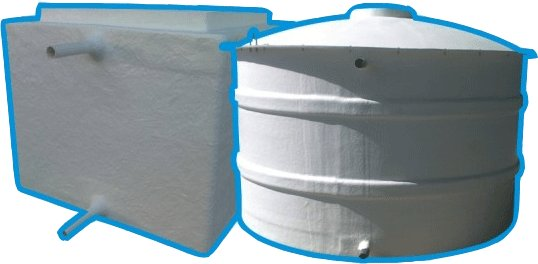 GRP Cylindrical Watertank underground and above ground