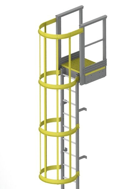 GRP Ladders with safety cage in uae